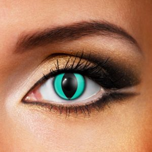 Aqua Cat Contact Lenses
