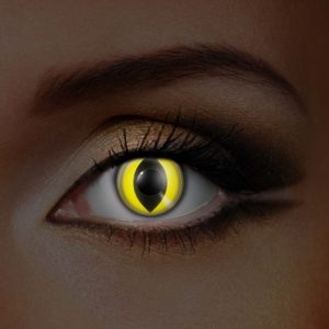 Yellow Cat UV Contact Lenses