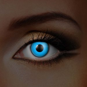 Blue UV Contact Lenses