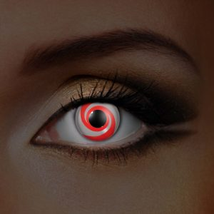 UV Red Swirl Contact Lenses
