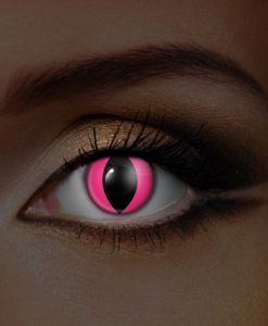 UV Pink Cat Eye Contact Lenses