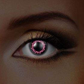 Pink Butterfly UV Contact Lenses