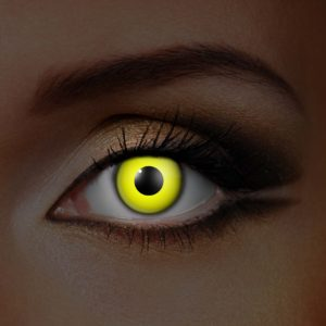 Yellow UV Contact Lenses