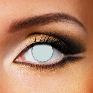 Blind White Contact Lenses